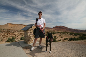 Chelle and Muttley in Utah