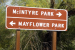 Mayflower County Park Sign