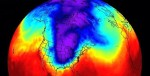 Polar vortex map