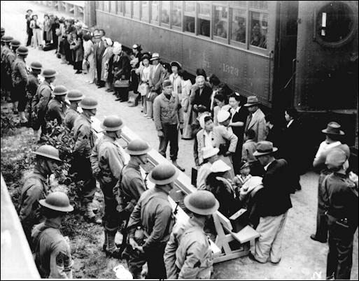 Herded Onto Trains for Manzanar