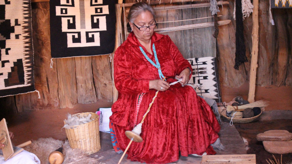 Navajo Woman at Work