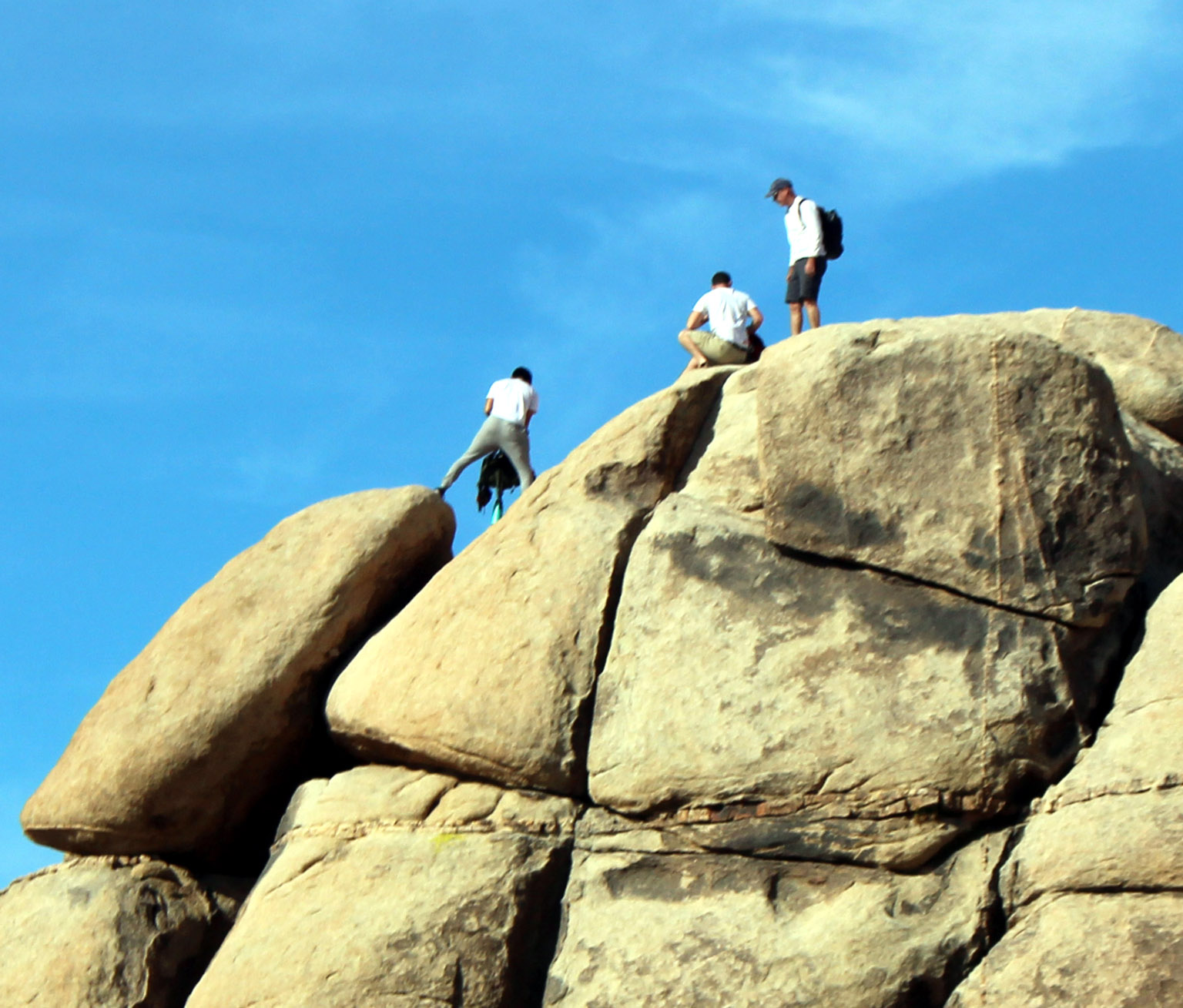 Rock Climbers at Joshua Tree