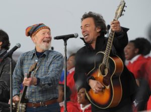 Seeger and Springsteen at the Lincoln Memorial